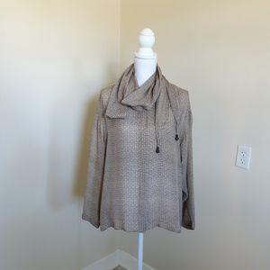 Vtg Linda Allard for Ellen Tracy 100% silk blouse